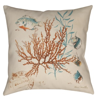 Ocean Scene 19-inch Indoor/ Outdor Throw Pillow