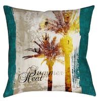 Manual Woodworkers Summer Heat 19-inch Indoor/ Outdoor Pillow