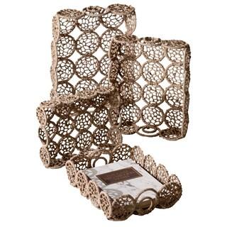 Weaved Jute Rectangle Basket (Set of 4)
