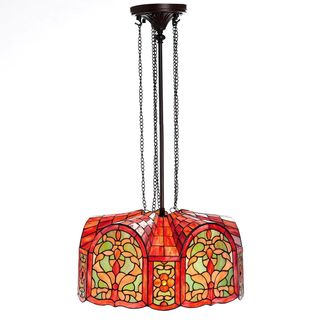 Warehouse of Tiffany Mediterranean 3-light Bronze Ceiling Lamp