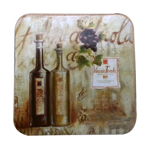 Le Chef Wine Cork-back Coaster (Set of 2)