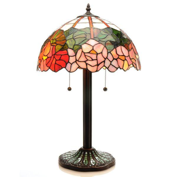 Warehouse of Tiffany Spring Petals 2-light Table Lamp