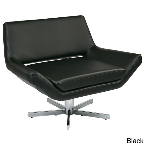 modern faux leather chrome base lounge chair free shipping today