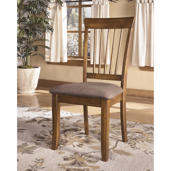 Signature Design By Ashley X27Berringerx27 Hickory Stained Dining Chairs