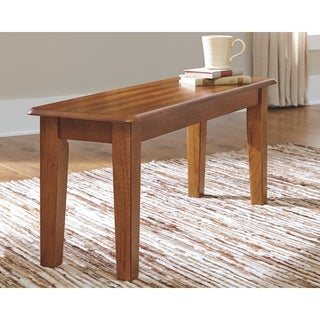 Signature Design by Ashley 'Berringer' Hickory Stained Large Dining Room Dining Bench