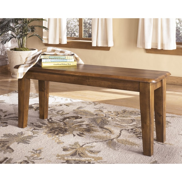 Signature Design By Ashley Berringer Hickory Stained Large Dining Room Bench