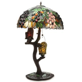 Warehouse of Tiffany 4-light Nature-inspired Table Lamp