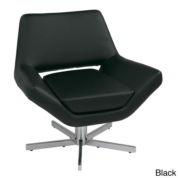 modern faux leather wide seat lounge chair free shipping today