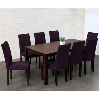 Warehouse of Tiffany 9-piece Purple Juno Table Dining Set