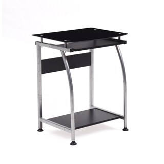 Glass Top Laptop Desk with Pull-out Keyboard (3 options available)