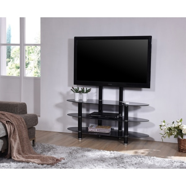 Shop Tempered Glass Tv Stand With Mount Free Shipping Today