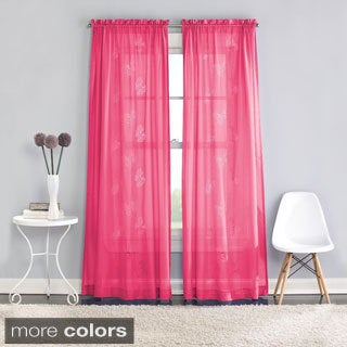 Butterfly Lazer Sheer Curtain Panel Pair