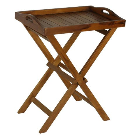 Bare Decor Teak Indoor/ Outdoor Tray Table