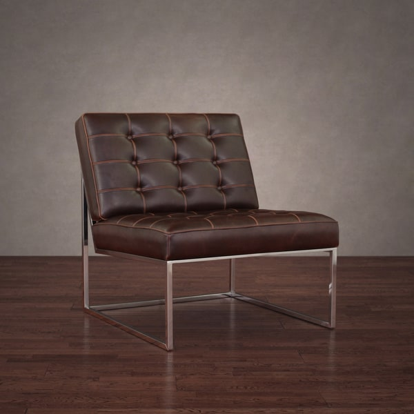 Brooklyn Vintage Tobacco Leather Chair Lounger