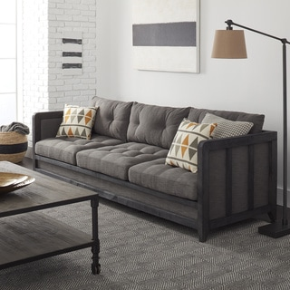 Creston 94-inch Smoke Linen Sofa