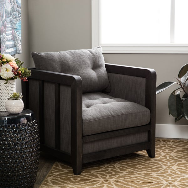 Creston Smoke Linen Arm Chair