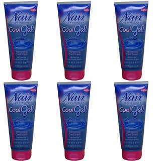 Nair Cool Gel 7.5-ounce Hair Remover (Pack of 6)
