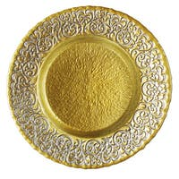 Baroque 13-inch Two-tone Charger Plate