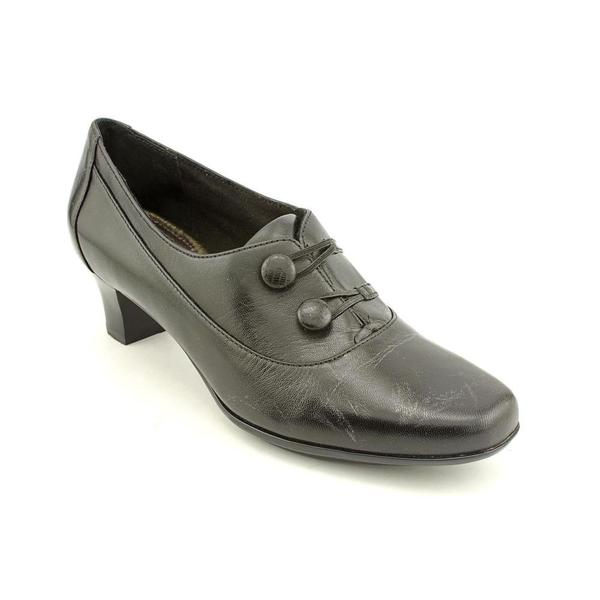 aravon s elsa leather dress shoes wide size 10