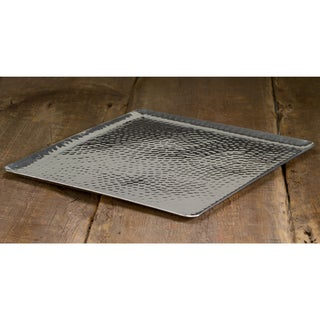 15-inch Square Hammered Aluminum Tray