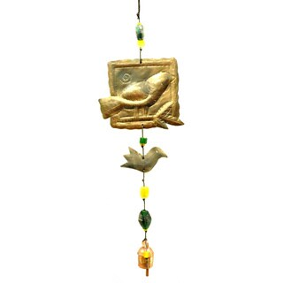 Handmade Bird Stamp Wind Chime (India)
