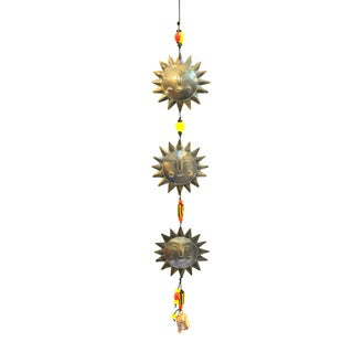 Handmade Triple Sun Wind Chime (India)