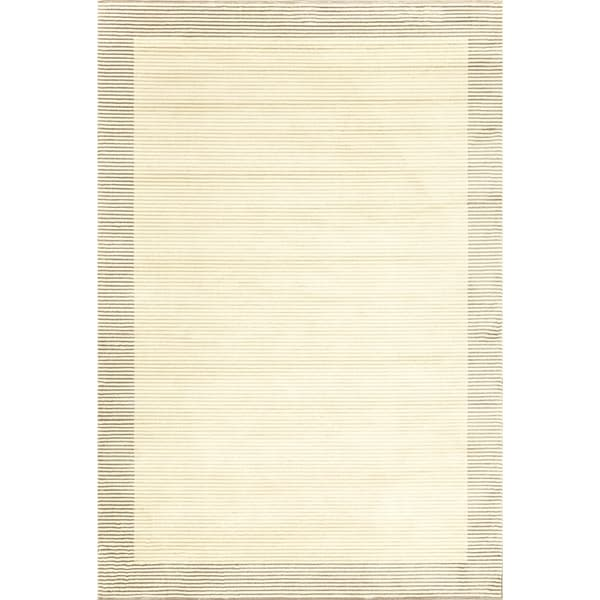 Grand Bazaar Power Loomed Wool & Viscose Nahele Rug in Cream/Gray - 5' x 8'