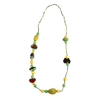 Hand-crafted Golden Light Beaded Necklace (Rwanda)