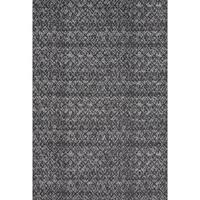Grand Bazaar Power Loomed Wool & Viscose Guilia Rug in Black / Dark Gray - 5' x 8'