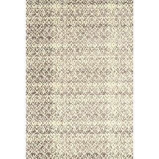 Grand Bazaar Power Loomed Wool & Viscose Nahele Rug in Cream/Gray (5' x 8')