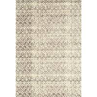 Grand Bazaar Power Loomed Wool & Viscose Nahele Rug in Cream/Gray - 5' x 8'