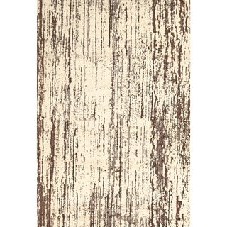 Grand Bazaar Power Loomed Wool & Viscose Nahele Rug in Cream / Brown (5' x 8')