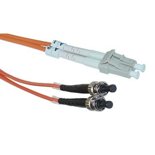Offex LC / ST 62.5/125 Multimode Duplex Fiber Optic Cable