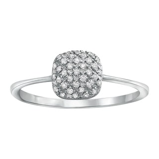Beverly Hills Charm 10k White Gold 1/8ct TDW Diamond Ring