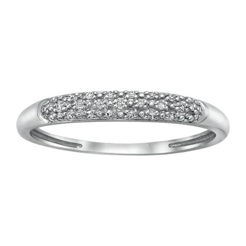 10k White Gold White Diamond Band Ring