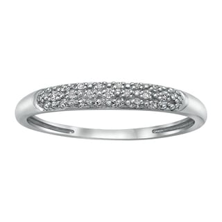 Beverly Hills Charm 10k White Gold White Diamond Band Ring