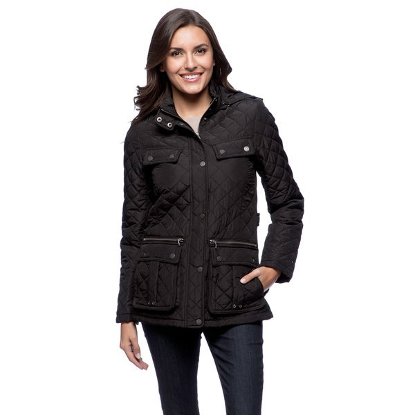 Tommy Hilfiger Women's Black Quilted Jacket - Free Shipping On ...