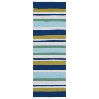 Indoor/Outdoor Luau Multi Stripes Rug (2' x 6') - 2' x 6'