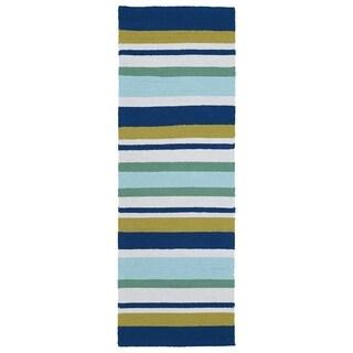 Indoor/Outdoor Luau Multi Stripes Rug - 2' x 6'