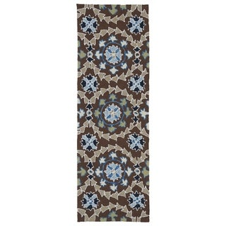 Indoor/Outdoor Fiesta Brown Rug (2' x 6') - 2' x 6'