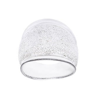 Sterling Silver Polished Sparkle Dome Ring