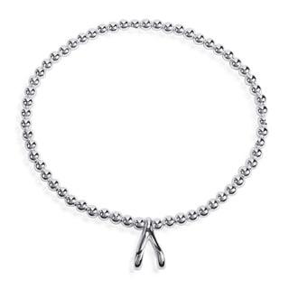 Handmade Lucky Elastic Silver Bead Bone .925 Sterling Silver Bracelet (Thailand)