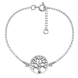 'Tree of Life' Centered .925 Sterling Silver Bracelet (Thailand)