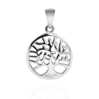Tree of Life Blossoming Branches Sterling Silver Pendant (Thailand)