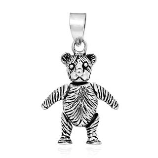 Charming Movable Teddy Bear .925 Sterling Silver Pendant (Thailand)
