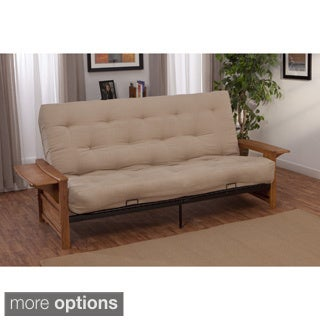 Bellevue with Retractable Tables Transitional-style Full-size Inner Spring Futon Sofa Sleeper Bed
