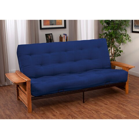 Bellevue with Retractable Tables Transitional-style Queen-size Inner Spring Futon Sofa Sleeper Bed