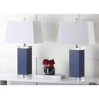 Safavieh Lighting 25.5-inch Navy Deco Leather Table Lamp (Set of 2)|https://ak1.ostkcdn.com/images/products/9043063/P16240775.jpg?impolicy=medium