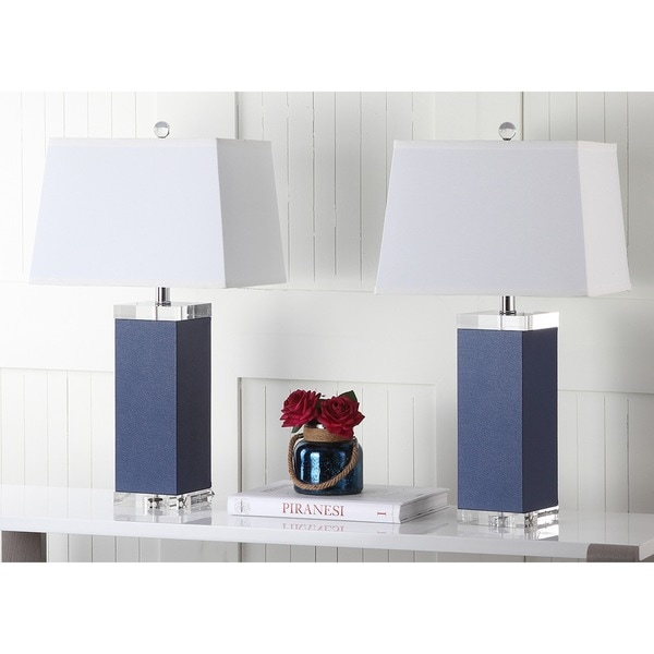 25 Best Ideas About Navy Lamp Shade On Pinterest: Shop Safavieh Lighting 27-inch Navy Deco Leather Table