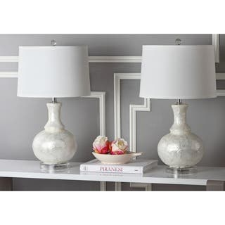 Safavieh Lighting 24.75-inch White Shelley Gourd Table Lamp (Set of 2)|https://ak1.ostkcdn.com/images/products/9043071/P16240783.jpg?impolicy=medium